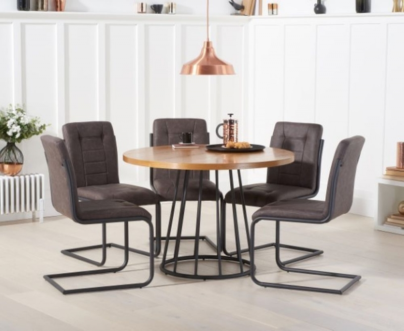 Mark Harris Heron Round Dining Table - Ash Wood and Metal