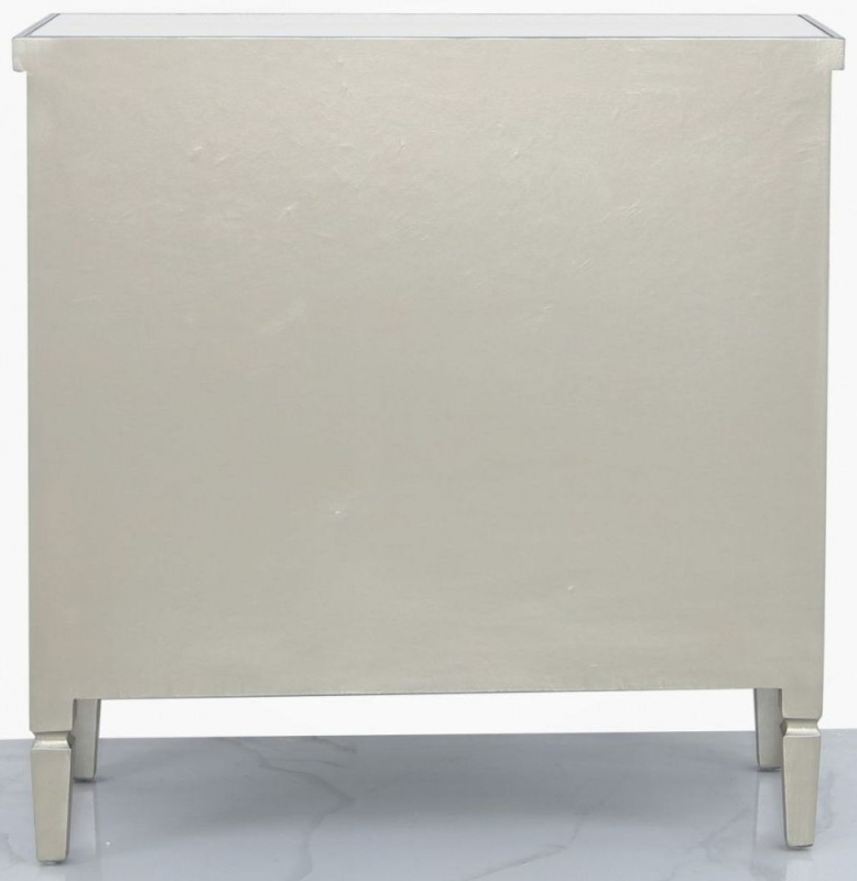 Wengen Champagne Trim Mirrored Sideboard