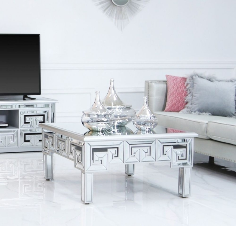 Essen Silver Trim Mirrored Coffee Table