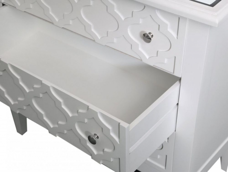 California White 3 Drawer Chest