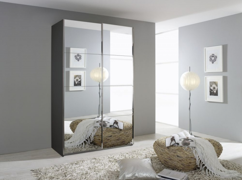 Rauch Quadra Sliding Wardrobe with Full Mirror Front