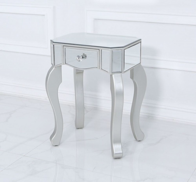 Selma Mirrored End Table