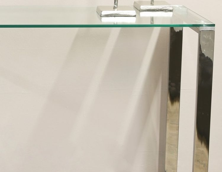 Hawarden Console Table - Glass and Chrome