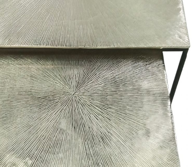 Milford Nest of Tables - Black Metal and Nickel