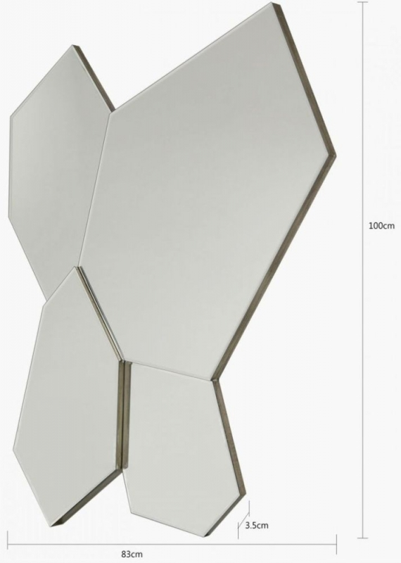 Vilonia Art Deco Wall Mirror - 83cm x 100cm