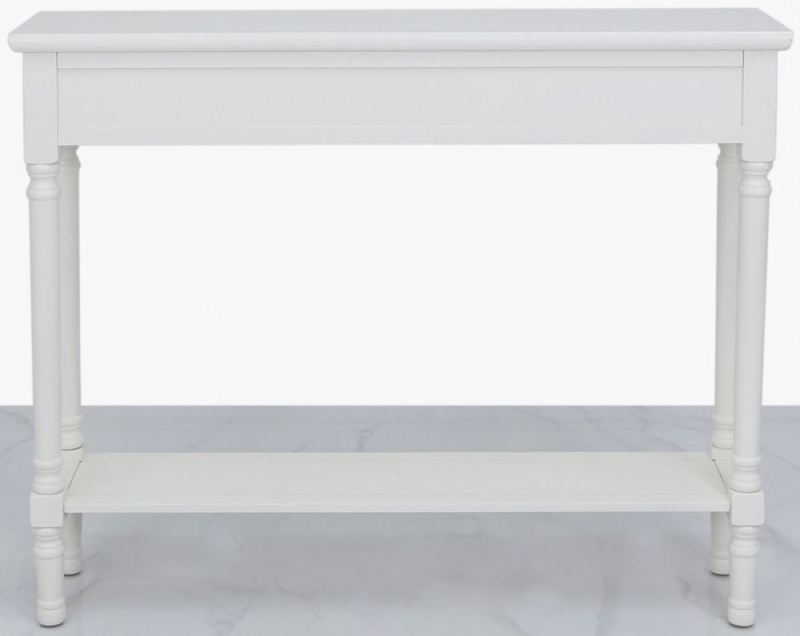 Serra White Painted Console Table