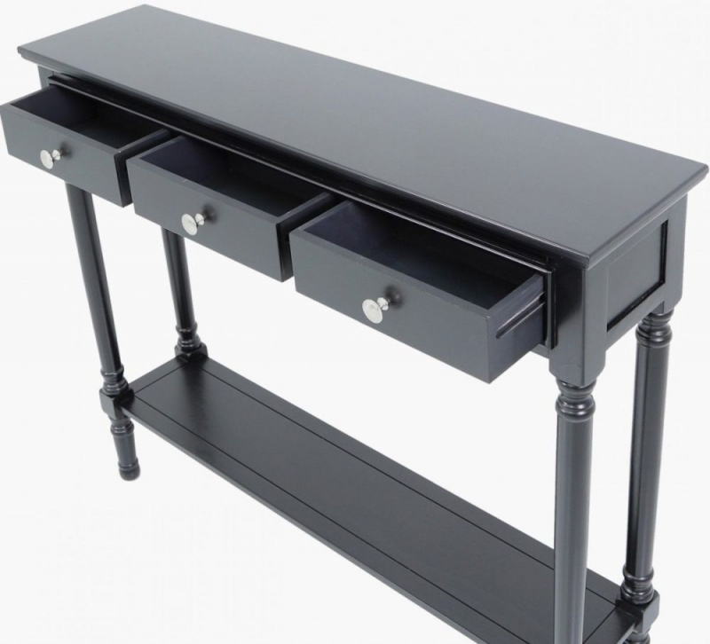 Serra Black Painted Console Table