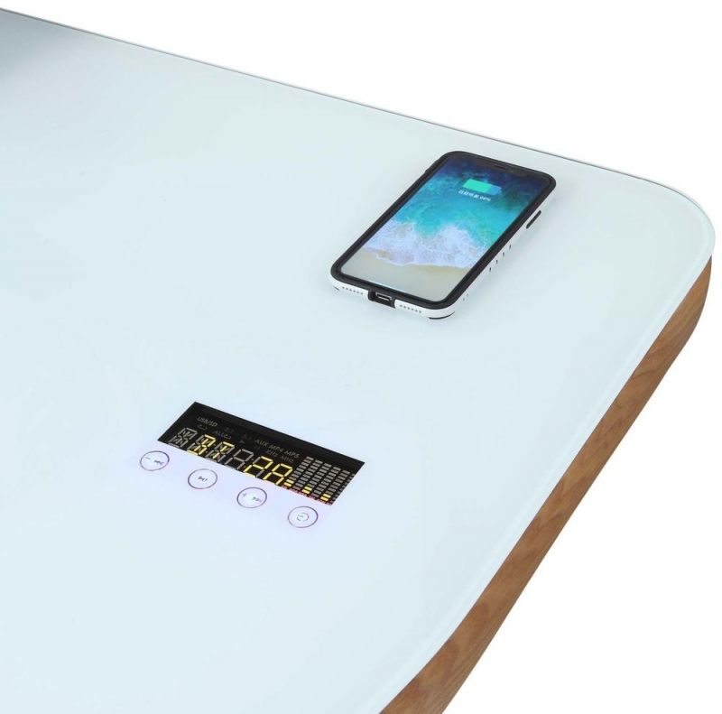 Jual San Francisco Ash Charging Desk with Bluetooth Speaker - PC711