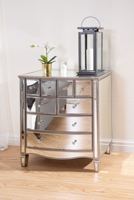 Birlea Elysee Mirrored 4+4 Drawer Chest
