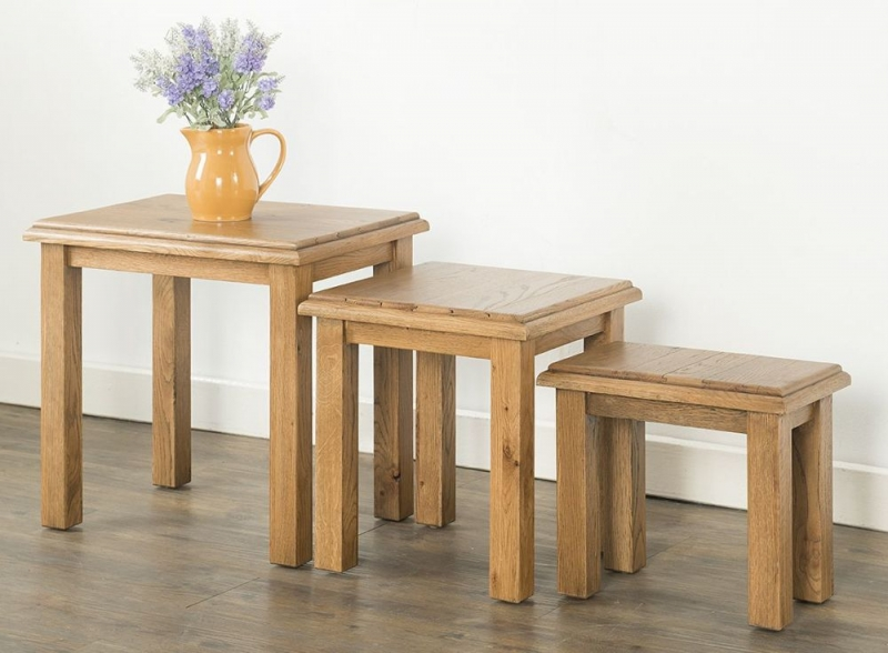 Rustica Oak Nest Of Tables