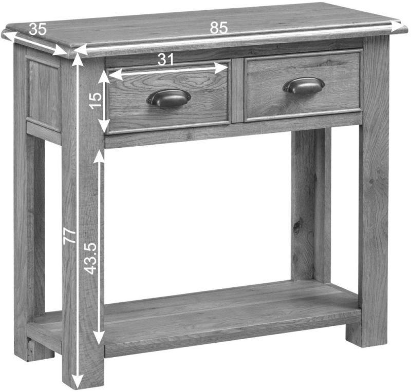 Rustica Oak Console Table