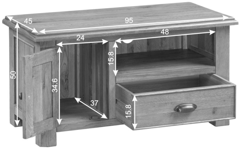 Rustica Oak Standard TV Unit