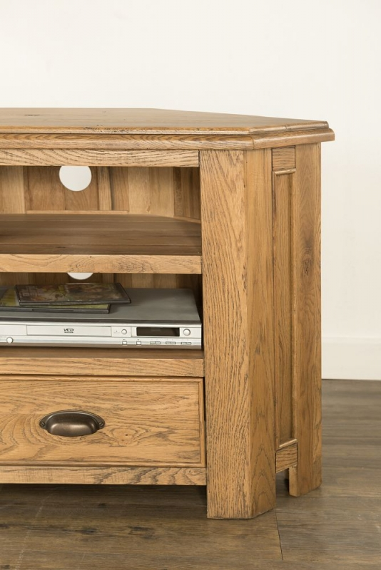 Rustica Oak Corner TV Unit