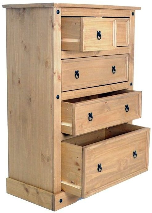 Birlea Corona Pine 3+2 Drawer Chest