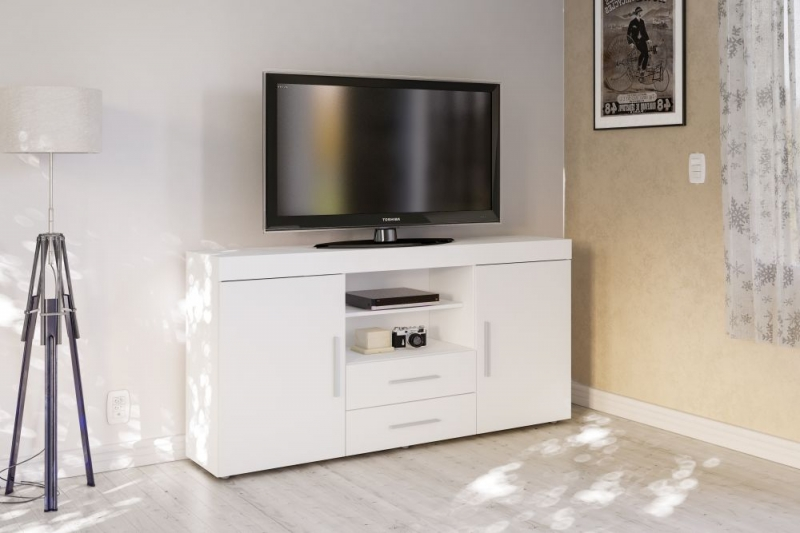 Birlea Edgeware White Large TV Unit