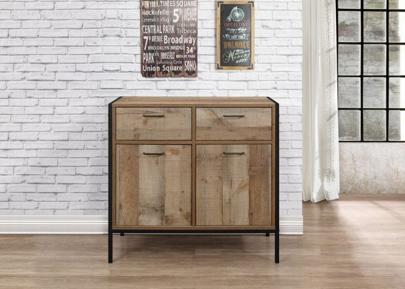Birlea Urban Rustic Sideboard with Metal Frame