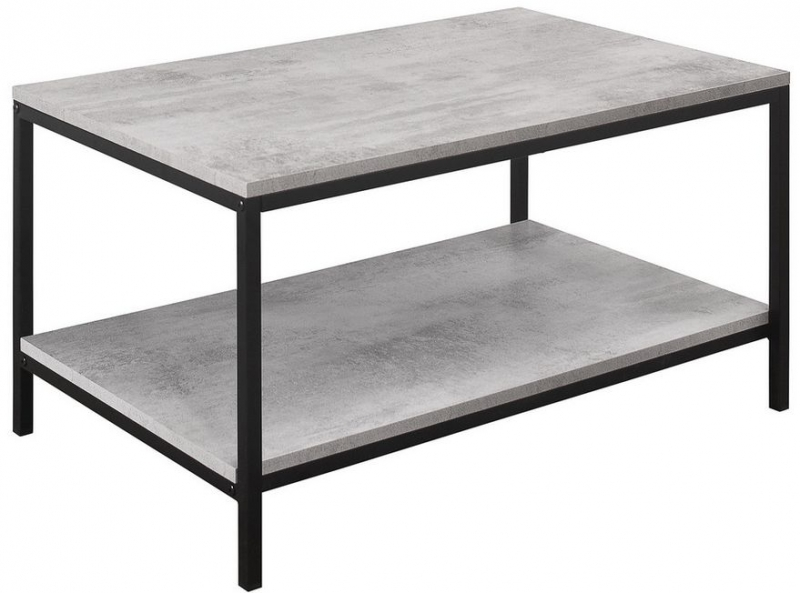 Birlea Midtown Grey Coffee Table with Metal Frame