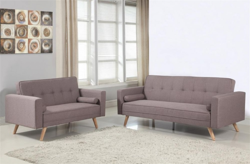 Birlea Ethan Grey Fabric 3 Seater Sofa Bed