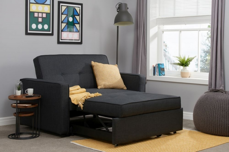 Birlea Otto Grey Fabric 2 Seater Sofa Bed