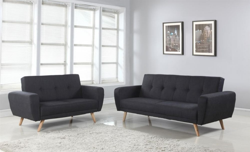 Birlea Farrow Grey Fabric 2 Seater Sofa Bed