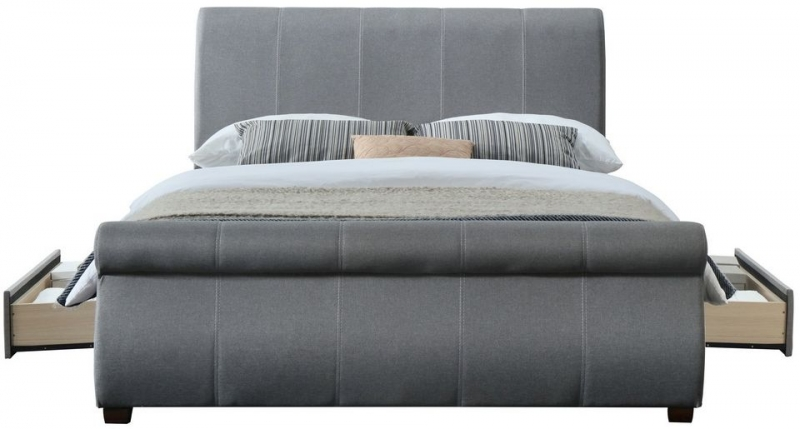 Birlea Lancaster Grey Fabric Bed