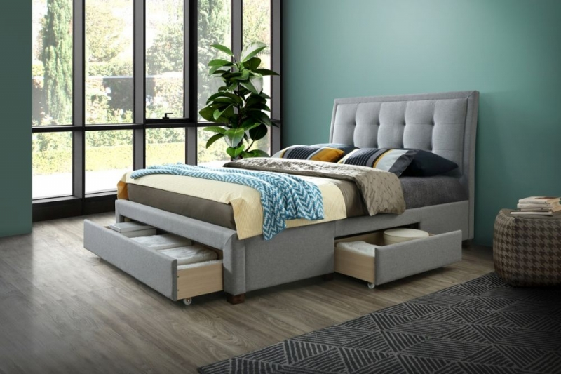 Birlea Shelby Grey Fabric Bed