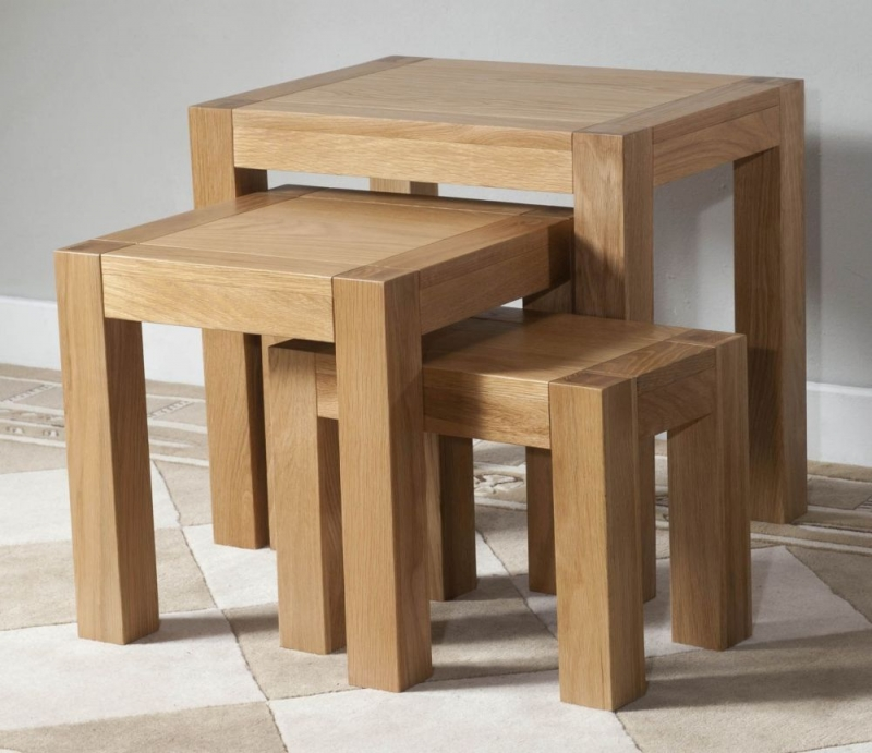 Milano Oak Nest of Tables