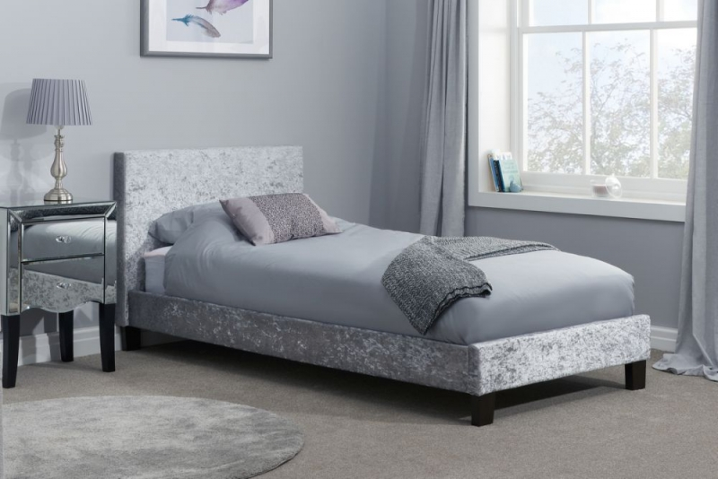 Birlea Berlin Steel Crushed Velvet Bed