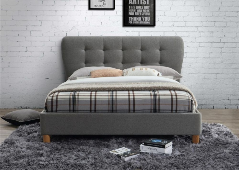 Birlea Stockholm Grey Fabric Bed