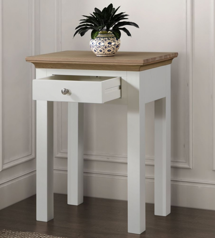 Sandringham Console Table - Oak and White Painted