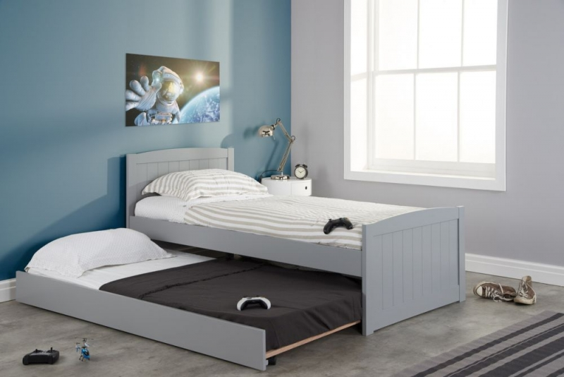 Birlea Beckton Grey 3ft Daybed with Underbed Trundle