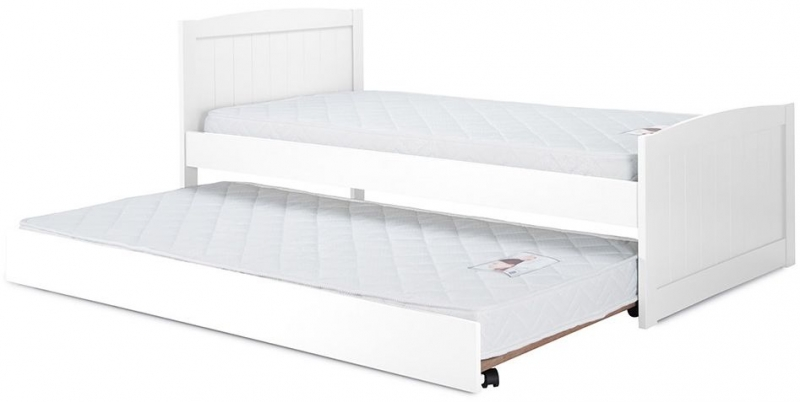 Birlea Beckton White 3ft Daybed with Underbed Trundle