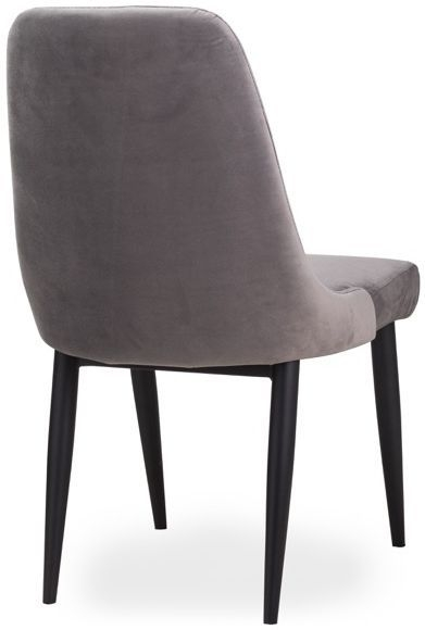 Hill Interiors Stockholme Grey Faux Leather Dining Chair (Pair)