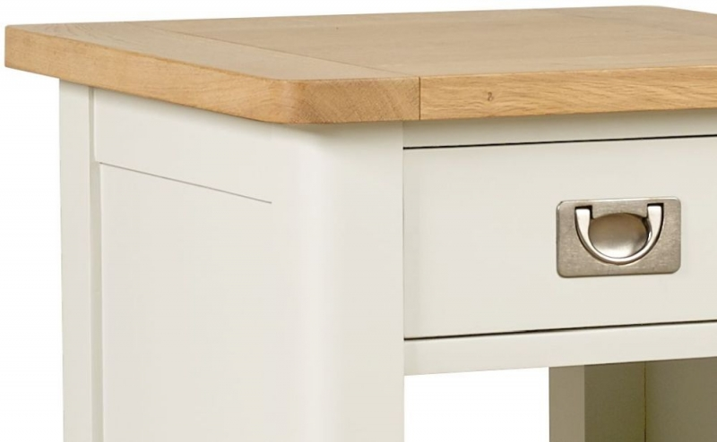 Mark Webster Hemmingway Lamp Table - Oak and Off White