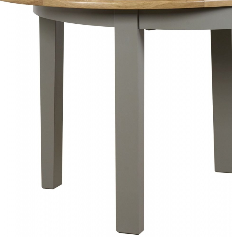 Mark Webster Waterford Round Extending Dining Table - Oak and Grey