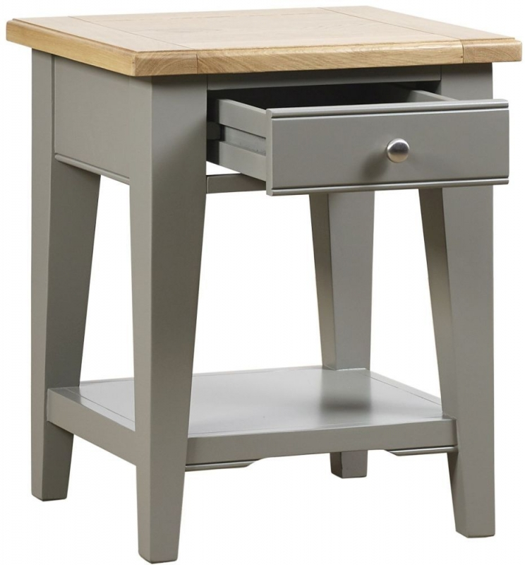 Mark Webster Waterford Lamp Table - Oak and Grey
