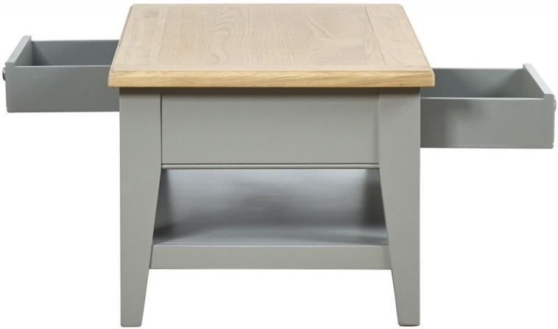 Mark Webster Waterford Storage Coffee Table - Oak and Grey