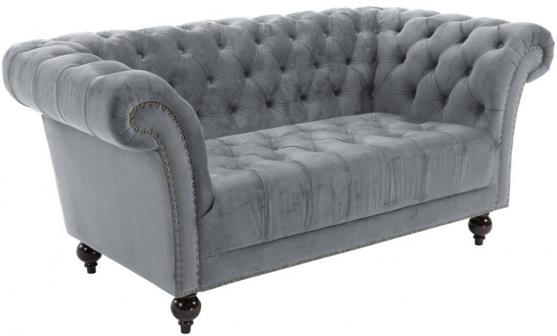 Birlea Chester Grey Fabric 2 Seater Sofa