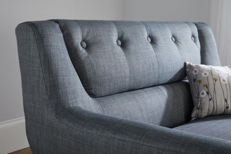 Birlea Lambeth Grey Fabric 2 Seater Sofa