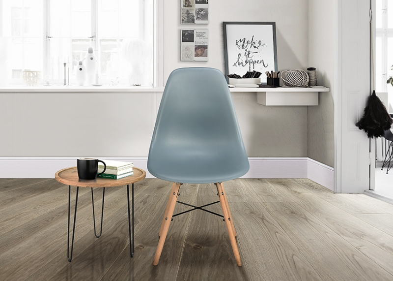 Birlea Hex Grey Dining Chair (Pair)