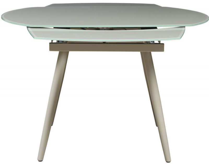 Mark Webster Motion Curved Extending Dining Table - Glass and Cappuccino