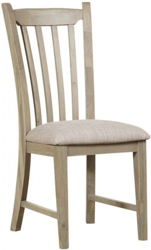 Mark Webster Lily Round Extending Dining Table and 4 Slatted Dining Chairs - Grey Cashew