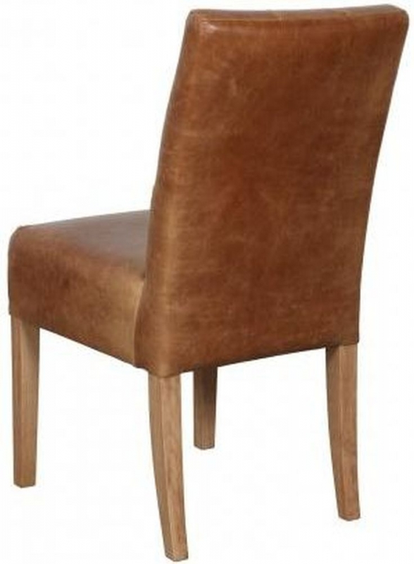 Carlton Additions Colin Cerato Brown Leather Dining Chair (Pair)