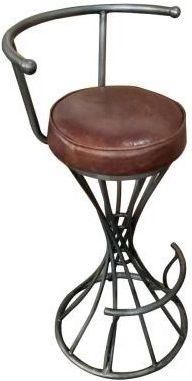 Carlton Additions Spiral Brown Leather Bar Stool