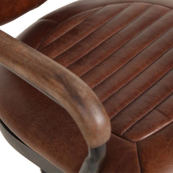 Carlton Additions Mustang Brown Leather Office Chair