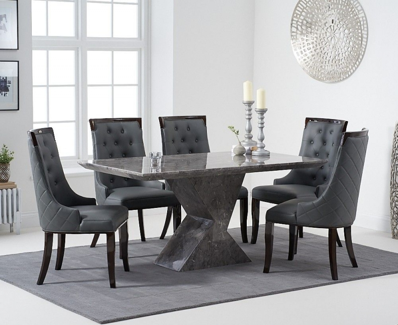 Mark Harris Allen Grey Marble 160cm Dining Table