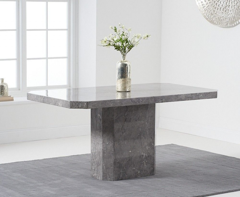 Mark Harris Becca Grey Engineered Marble 160cm Dining Table