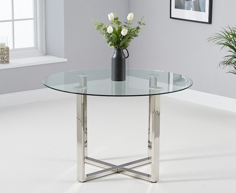 Mark Harris Vidro Round Glass 120cm Dining Table