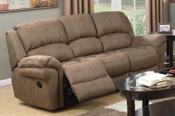 Farnham Taupe Leather 3 Seater Recliner Sofa