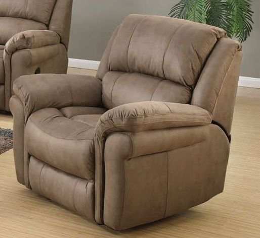 Farnham Taupe Leather Recliner Armchair